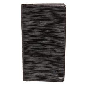 Louis Vuitton Black Epi Leather Long Card Wallet
